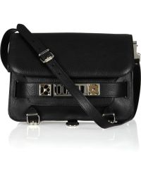 Proenza Schouler The Ps11 Classic Textured-Leather Shoulder Bag black - Lyst