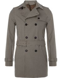 Paul & Joe | Prince Of Wales Check Trench Coat | Lyst