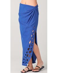 Catherine Malandrino - Wrap Maxi Skirt with Cutout - Lyst