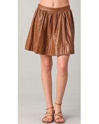 Dallin Chase - Flynn Washed Leather Skirt - Lyst