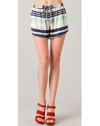 Elizabeth and James - Striped Ozzy Shorts - Lyst
