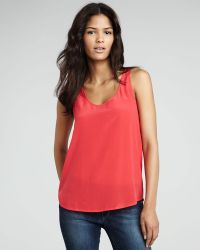 French Connection Summer Silk Tank - Lyst