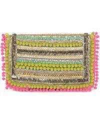 Matthew Williamson Pom Pom Embellishment Clutch Bag - Lyst