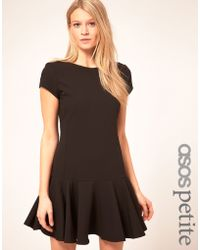 ASOS Collection Asos Petite Exclusive Shift Dress with Peplum Hem - Lyst