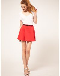 ASOS Collection Ponti Mini Skirt With Belt - Lyst