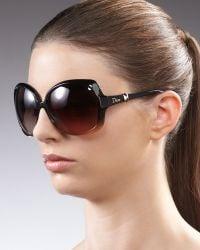 Dior - Squared Ombre Sunglasses, Green - Lyst