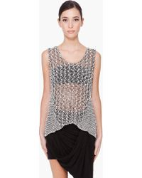 Helmut Lang Off White Knit Combo Tank Top - Lyst
