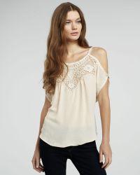 Plastic Island - Cold-shoulder Crochet Top - Lyst