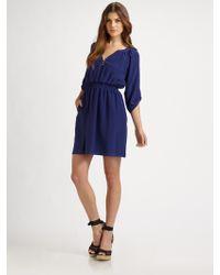 Shoshanna Silk Dress - Lyst