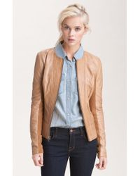 Trouvé Channel Quilted Leather Jacket - Lyst