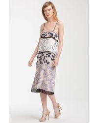 Diane von Furstenberg Adriana Embellished Print Silk Column Dress - Lyst