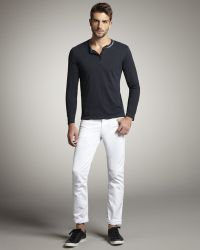 Bliss and Mischief - Straight-leg White Jeans - Lyst