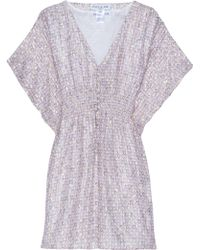 Paul & Joe Kaftan Dress Sheer Print - Blue