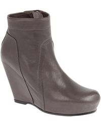 Rick Owens Wedge Boots - Lyst