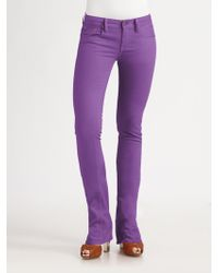 Ralph Lauren Blue Label - Stretch Slim Bootcut Jeans - Lyst
