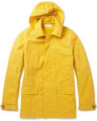 Hentsch Man Parker Hooded Fisherman Jacket - Yellow