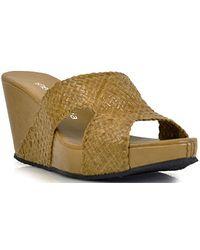 Sheridan Mia - Franca Corda Woven Leather Slide Sandal - Lyst