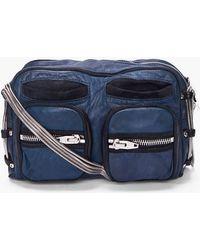 Alexander Wang Navy Brenda Zip Chain Bag - Lyst