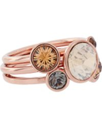 Ted Baker - Rose Gold Jewel Cluster Ring - Lyst