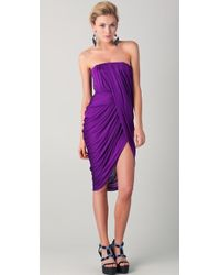 Doo. Ri - Strapless Dress with Asymmetrical Draped Front - Lyst