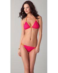 Indah Coco Crochet Bikini Top - Pink