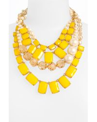Kate Spade Treasure Chest Statement Necklace yellow - Lyst