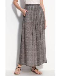 Valette   Paige Snake Print Silk Chiffon Maxi Skirt   Lyst