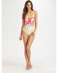 Gottex Onepiece Lotus Tank Swimsuit - Lyst