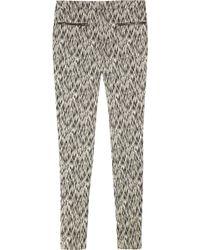 Matthew Williamson - Ikat-print Stretch Cotton-blend Skinny Trousers - Lyst