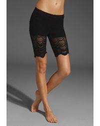 Nightcap Lace Biker Shorts black - Lyst