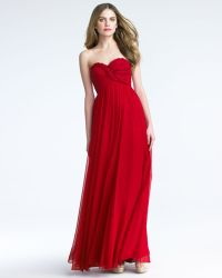 Notte by Marchesa Braided Sweetheart Silk Gown - Lyst