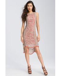 Rachel Roy Net Knit Asymmetrical Sleeveless Dress - Lyst