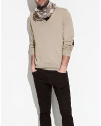 Zara Cotton Sweater with Elbow Patches - Lyst