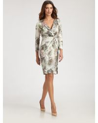 St. John Silk Crepe De Chine Dress - Lyst