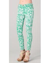 Diane von Furstenberg Dvf Loves Current Elliott Classic Skinny Jeans - Green