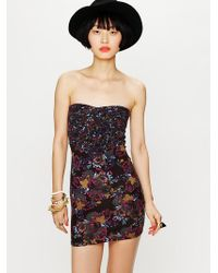 Free People Mix Print Bodycon - Lyst
