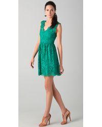 Madison Marcus - Lace V Back Dress - Lyst