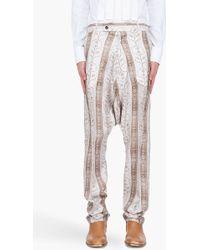 John Galliano - Silk Pearl Print Harem Pants - Lyst