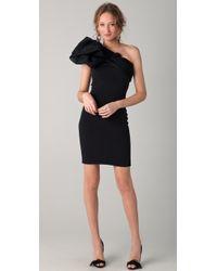 Balenciaga Ruffle Pleat Dress In Black Lyst
