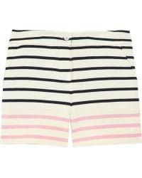 Markus Lupfer Striped Cotton Shorts blue - Lyst