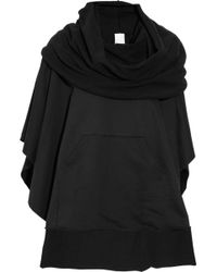 OAK - Cottonterry Funnel Neck Poncho - Lyst