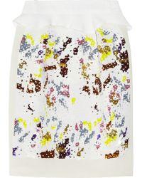 Preen By Thornton Bregazzi Matilda Sequined Crepe Skirt - Lyst