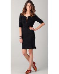 Majestic Linen Jersey Dress black - Lyst