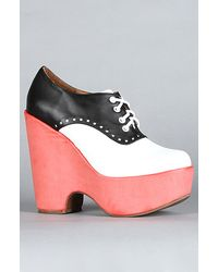 Jeffrey Campbell The Lindy Shoe in Black and White - Lyst