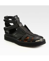Neil Barrett - Leather Sandals - Lyst