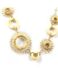 Sari Glassman Ooak Golden Ivory Daisy Flower Necklace  - Lyst