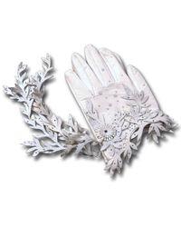 World Of Christina Winter White Gloves - Lyst