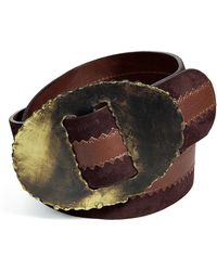 Donna Karan New York Clay Artisan Suede Belt - Lyst