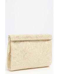 Nina Beaded Frame Clutch - Lyst