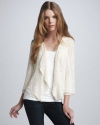 Parker Sequined Open Cardigan - Lyst